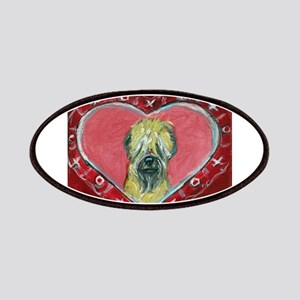 Soft Coated Wheaten Terrier Valentine Heart Patche