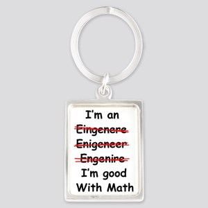 Im good with math Portrait Keychain