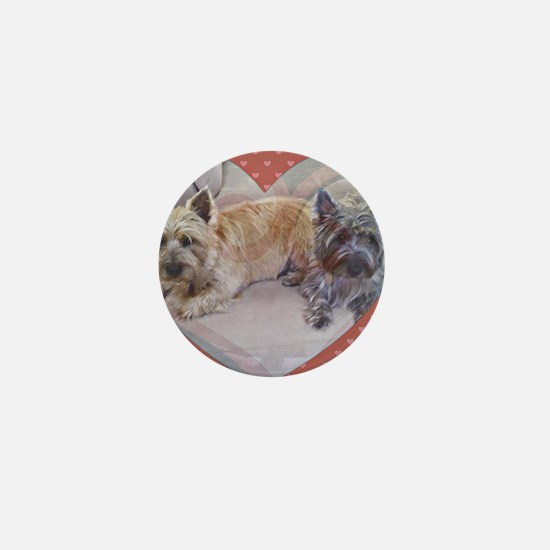 Cairn Terriers Inside Heart Mini Button