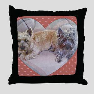 Cairn Terriers Inside Heart Throw Pillow