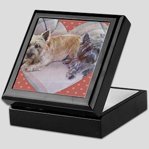 Cairn Terriers Inside Heart Keepsake Box