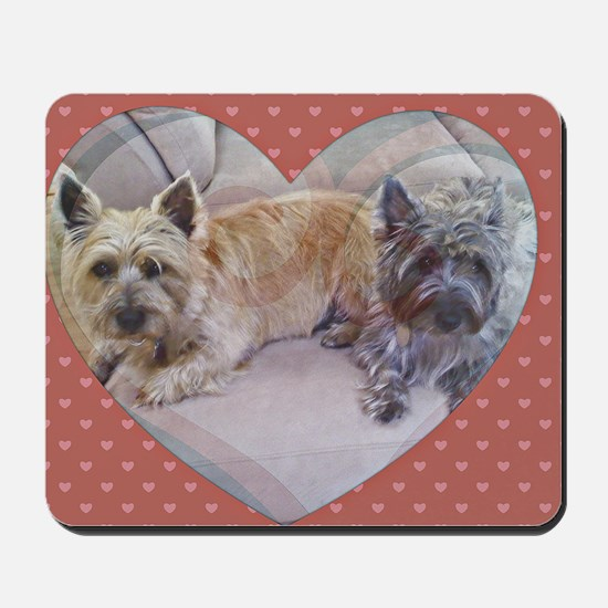 Cairn Terriers Inside Heart Mousepad
