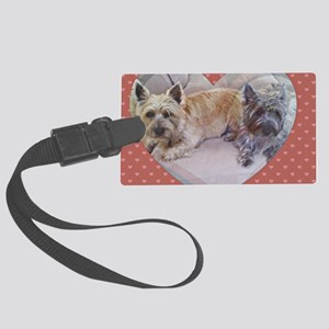 Cairn Terriers Inside Heart Large Luggage Tag
