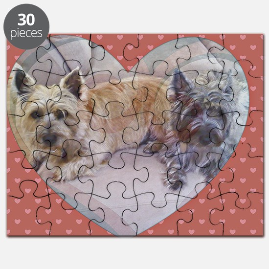 Cairn Terriers Inside Heart Puzzle
