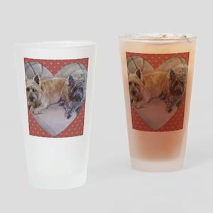 Cairn Terriers Inside Heart Drinking Glass