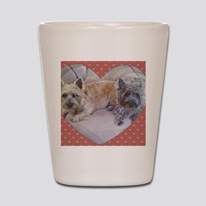 Cairn Terriers Inside Heart Shot Glass
