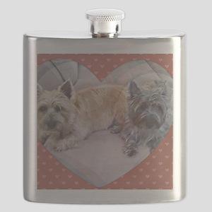 Cairn Terriers Inside Heart Flask