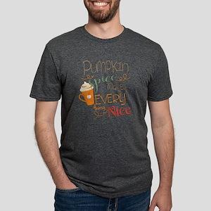 Pumpkin Spice Makes Everyth Mens Tri-blend T-Shirt