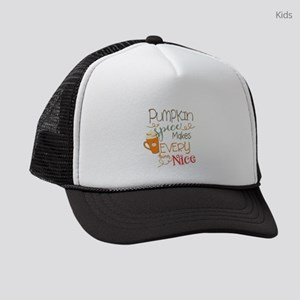 Pumpkin Spice Makes Everything Ni Kids Trucker hat