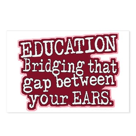 Education, Bridging That GAP Postcards (Package of