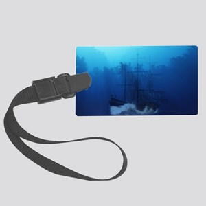 Ghost Ship Large Luggage Tag