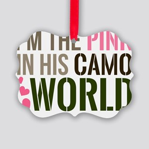 Im the Pink in his Camo World Picture Ornament