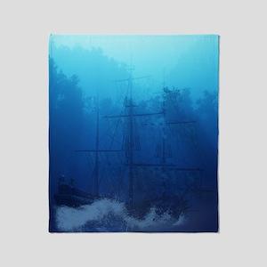 Ghost Ship Throw Blanket