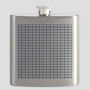 UNC Argyle Carolina Blue Tarheel Flask