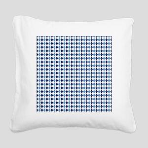 UNC Argyle Carolina Blue Tarh Square Canvas Pillow