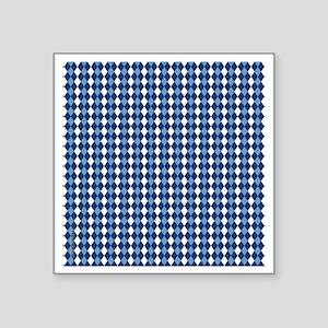 "UNC Carolina Blue Basketbal Square Sticker 3"" x 3"""