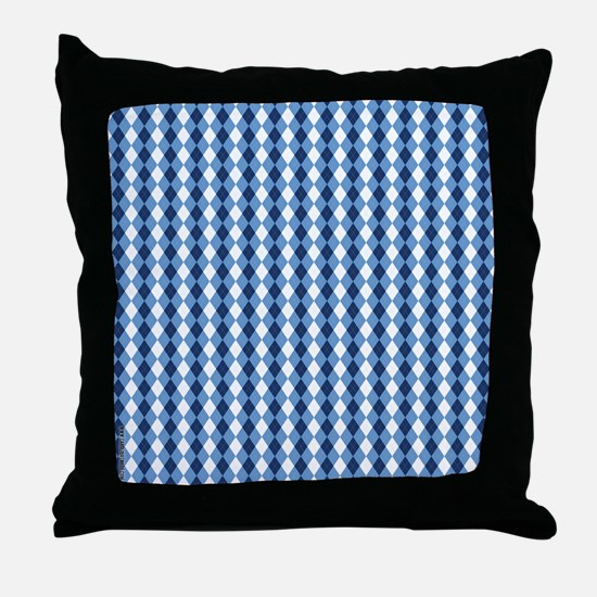 UNC Basketball Argyle Carolina Blue Throw Pillow