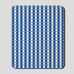 UNC Basketball Argyle Carolina Blue Mousepad