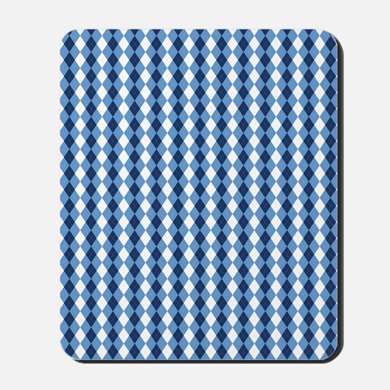 UNC Basketball Argyle Carolina Blue Mousepad
