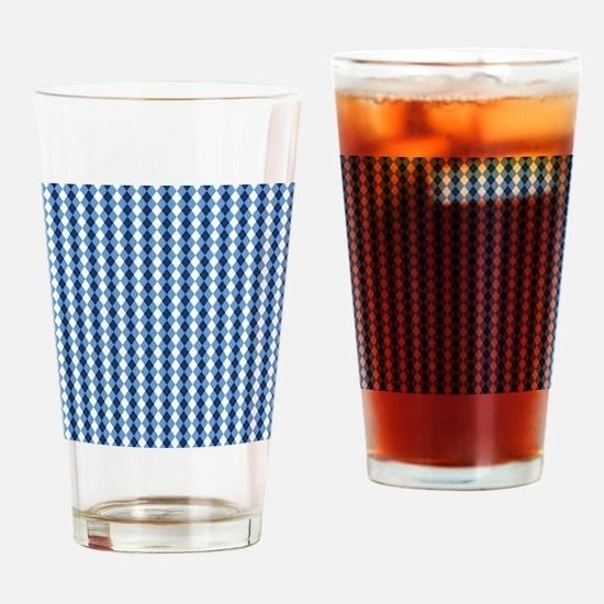 UNC Basketball Argyle Carolina Blue Drinking Glass