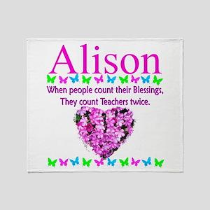 SPECIAL TEACHER Throw Blanket