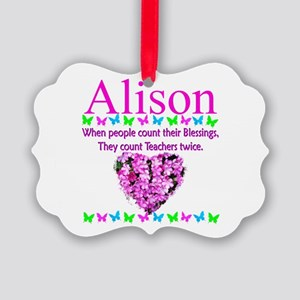 SPECIAL TEACHER Picture Ornament