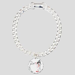 Psycho Scene Charm Bracelet, One Charm