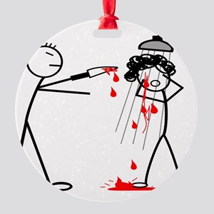 Psycho Scene Round Ornament