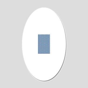 UNC Basketball Argyle Caroli 20x12 Oval Wall Decal