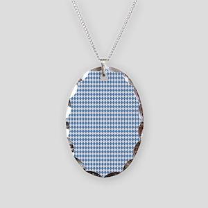 UNC Carolina Blue Argle Basket Necklace Oval Charm