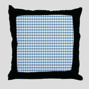 UNC Carolina Blue Argle Basketball Throw Pillow