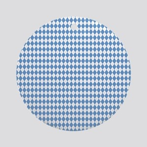 UNC Carolina Blue Argle Basketball Round Ornament
