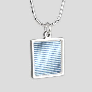 UNC Carolina Blue Argle Ba Silver Square Necklace