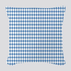 UNC Carolina Blue Argle Basket Woven Throw Pillow