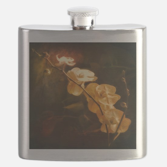 watercolor orchid Flask