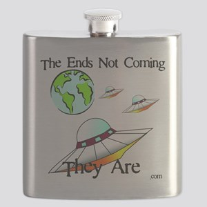 Three Saucers Aproaching Earth Flask