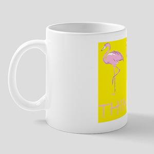 Breast cancer flamingo d bu yel Mug