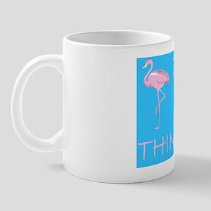 Breast cancer flamingo d bu bl Mug