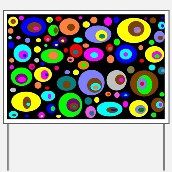 abstraction-with-bright-circles Yard Sign