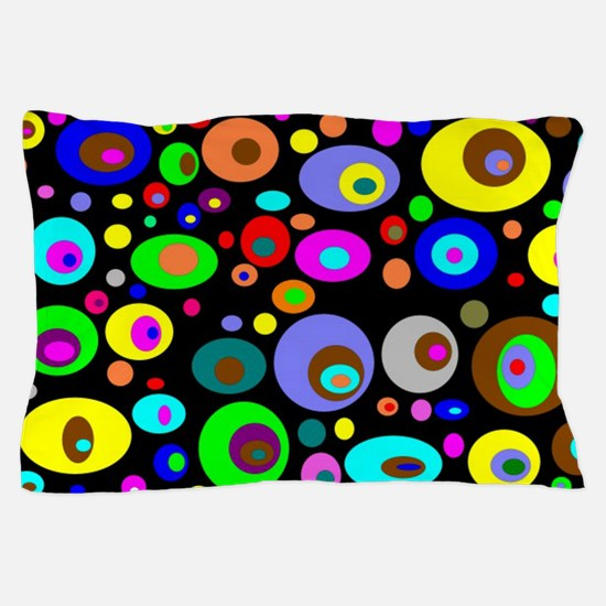 abstraction-with-bright-circles Pillow Case