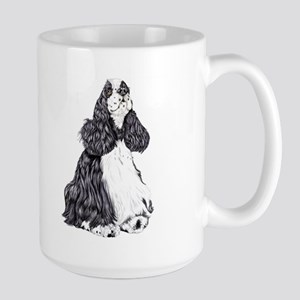 Cocker Spaniel BW Parti Large Mug