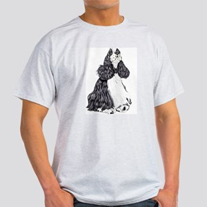 Cocker Spaniel BW Parti Light T-Shirt