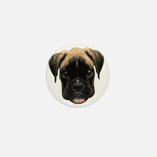 Boxer Face 001 Mini Button