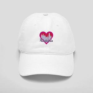 Philadelphia Skyline Heart Baseball Cap