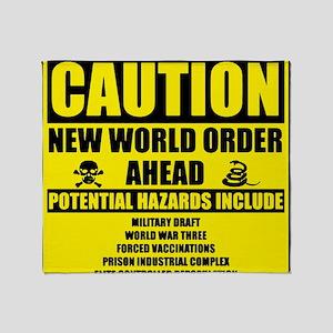 illuminati new world order 911 Throw Blanket