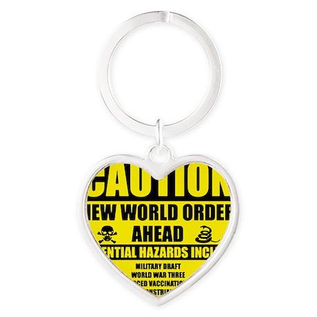 illuminati new world order 911 Heart Keychain