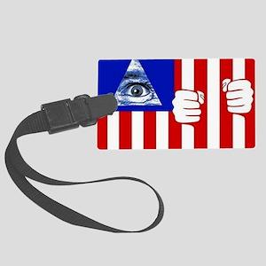 illuminati new world order 911 Large Luggage Tag