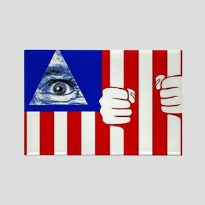illuminati new world order 911 Rectangle Magnet