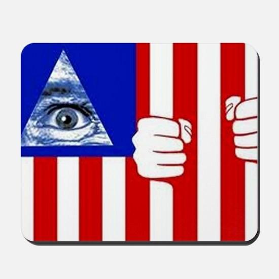 illuminati new world order 911 Mousepad