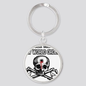 illuminati new world order 911 Round Keychain